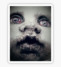 Creepy doll, Quartz Sticker