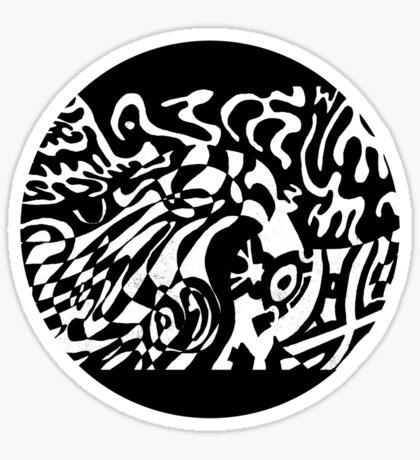 Robot Dreams Circle Sticker