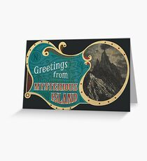 Greetings from Mysterious Island! Greeting Card
