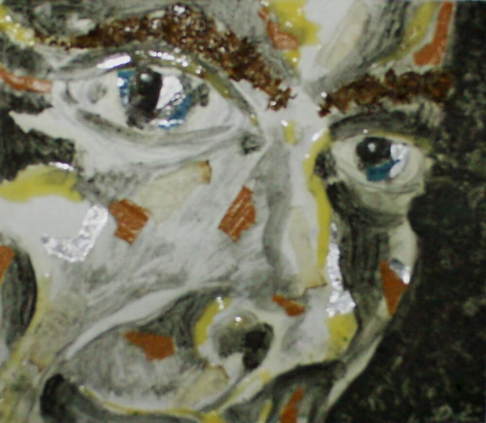 Smoke Self-portrait (Mixed Media)- by Robert Dye