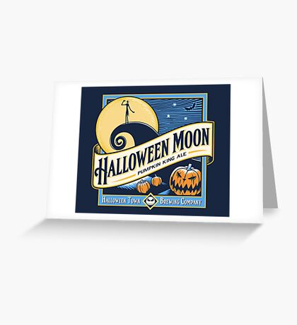 Halloween Moon Greeting Card