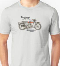 Vintage Triumph Bonneville 120 poster recreated by MotorManiac Unisex T-Shirt