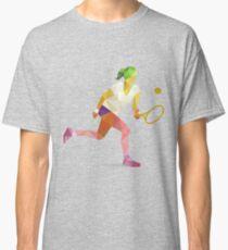 Colorful geometric tennis woman player Classic T-Shirt