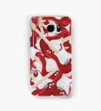Red Fender Stratocaster Guitar Samsung Galaxy Case/Skin