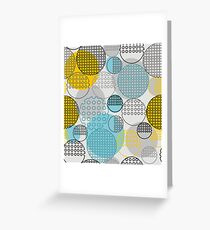 Abstract geometry from contoured circles Greeting Card