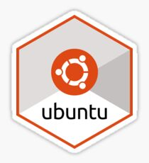 ubuntu hexagonal Sticker