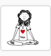 Yoga Lover - Iove Yoga Sticker