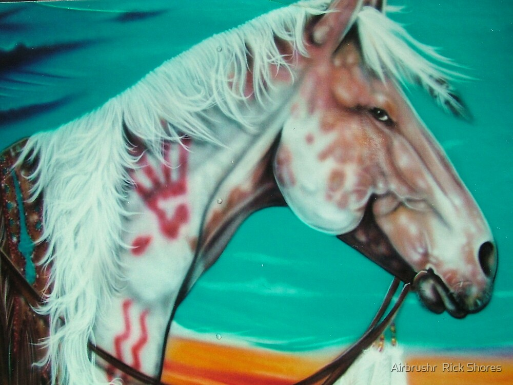 painted horse by Airbrushr  Rick Shores