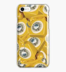 Yellow Old School Telephone iPhone Case/Skin