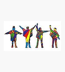 Groovy Beatles Silhouette Photographic Print