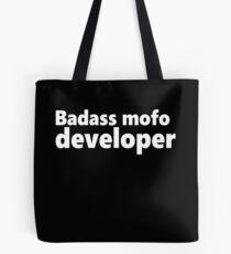 Badass mofo developer Tote Bag