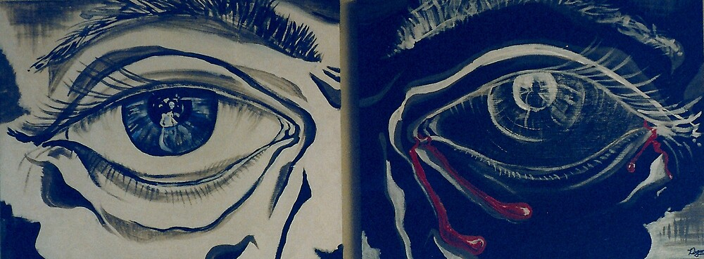 Deep Introspection Diptych (Acrylics)- by Robert Dye