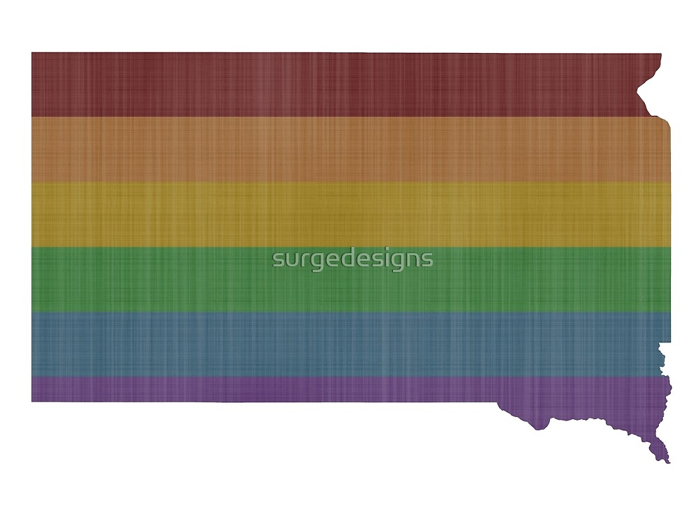 South Dakota Rainbow Gay Pride by surgedesigns