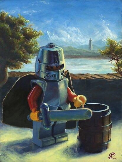 Lego Ritter mit Fassmalerei von kevincuellar