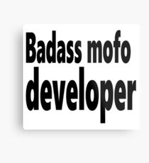 Badass mofo developer Metal Print