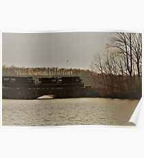 Norfolk Southern over Susquehanna River by Respite Artwork Poster