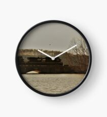 Norfolk Southern over Susquehanna River by Respite Artwork Clock