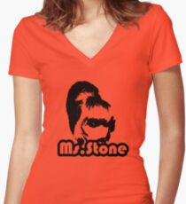 Ms.Stone Women's Fitted V-Neck T-Shirt