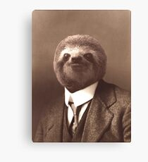 Gentleman Sloth Canvas Print