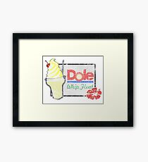 Dole Whip Float (DISTRESSED) Framed Print