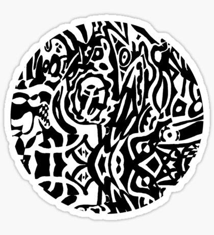 Bird Creature Circle Sticker