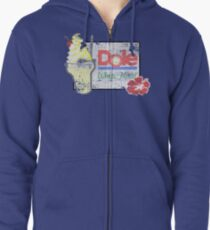 Dole Whip Float (DISTRESSED) Zipped Hoodie