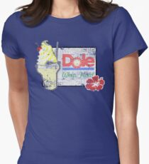 Dole Whip Float (DISTRESSED) Womens Fitted T-Shirt