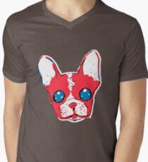 French bulldog anime eyes sketch with marker Mens V-Neck T-Shirt