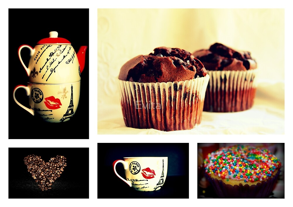 Tea Or Coffee With Muffins by Evita
