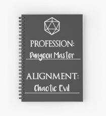 Cuaderno de espiral Dungeon masters are chaotic evil