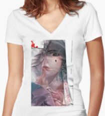 IRL EDIT : Cute Gal Women's Fitted V-Neck T-Shirt