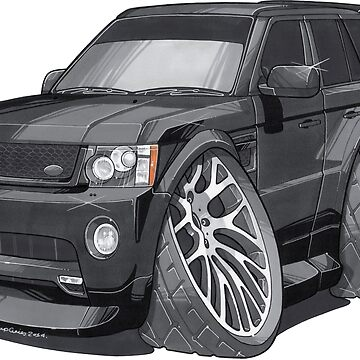 Land Rover Range Rover Sport Caricature by supercarshirts