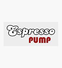 Espresso Pump Photographic Print