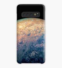 Juno Polar View of Planet Jupiter Generative Painting Case/Skin for Samsung Galaxy