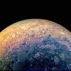 Juno Polar View of Planet Jupiter Generative Painting by Jim Plaxco