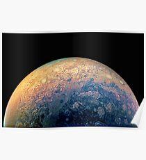 Juno Polare Ansicht von Planet Jupiter Generative Malerei Poster