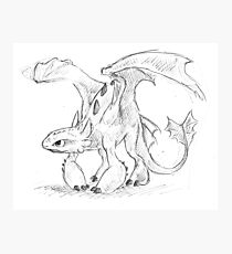 Toothless Pen Drawing Photographic Print