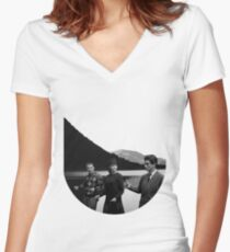 Collage Bande à part (Band of Outsiders) - Jean-Luc Godard Women's Fitted V-Neck T-Shirt