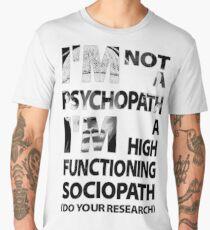 Sherlock - I'm Not A Psychopath... Men's Premium T-Shirt