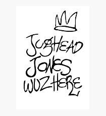 Jughead Jones Wuz Hier Fotodruck