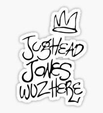 Jughead Jones Wuz Here Sticker