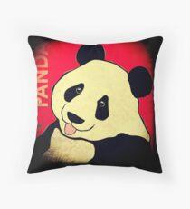 Panda Bear (Rustic) Throw Pillow
