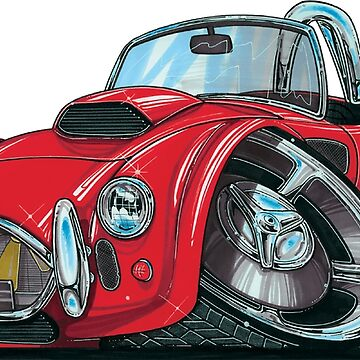 AC Shelby Cobra Red Caricature  by supercarshirts
