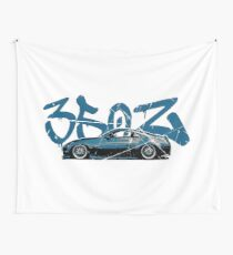 Nissan 350z Blue Wall Tapestry