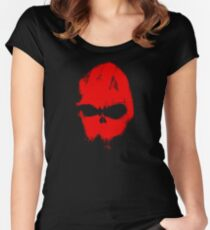 Skull in red Women's Fitted Scoop T-Shirt