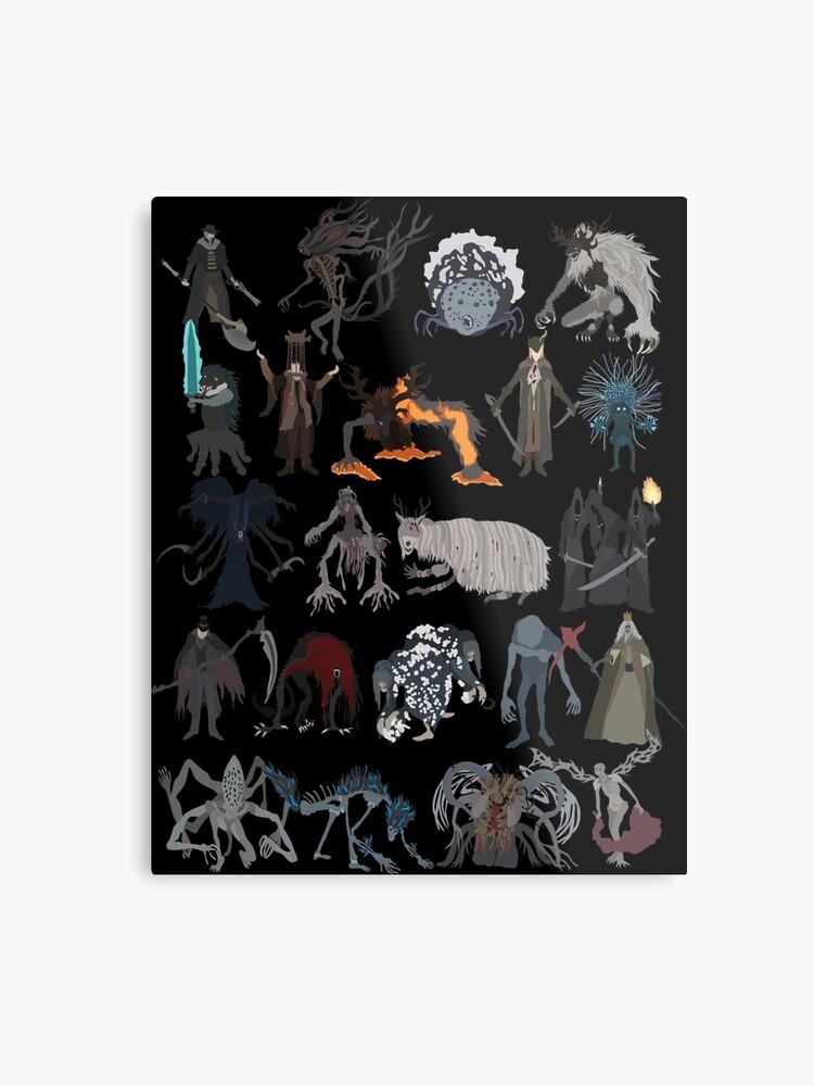 3722fa02f00d Bloodborne bosses Metal Print. Bloodborne bosses by DigitalCleo