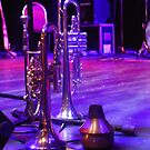 Brass Instruments And Mute On Stage by BlueMoonRose