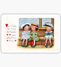 Vintage Valentine's Day Card Sticker