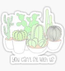 sit with us Sticker
