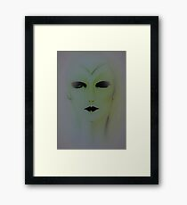 futuristic flapper dolly by Jacqueline Mcculloch Framed Print
